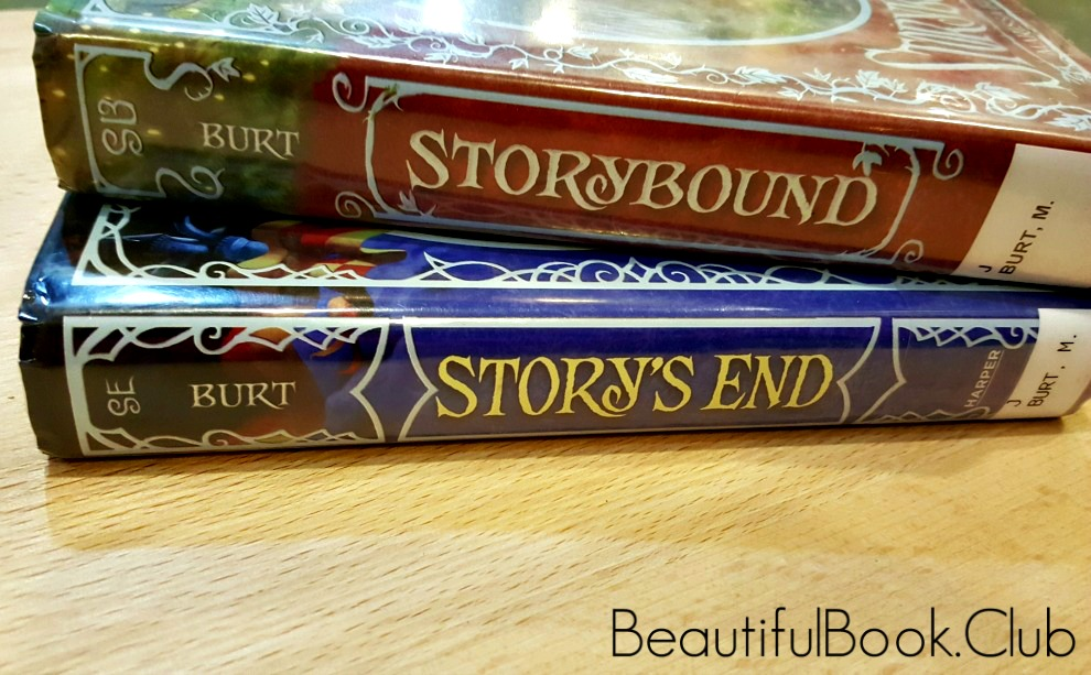 Storybound & Story's End spine side view