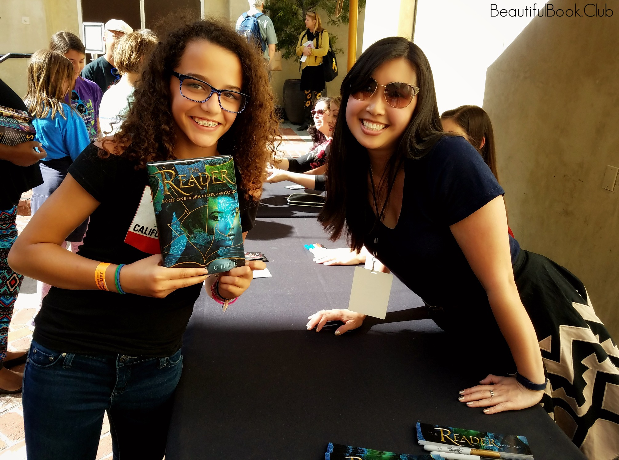 Bay Area Book Festival The Reader signed with Traci Chee and me