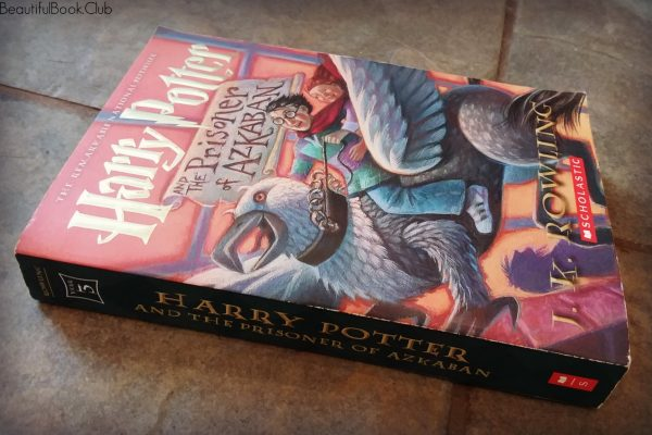 Harry Potter and the Prisoner of Azkaban by J.K. Rowling spine and front cover side view