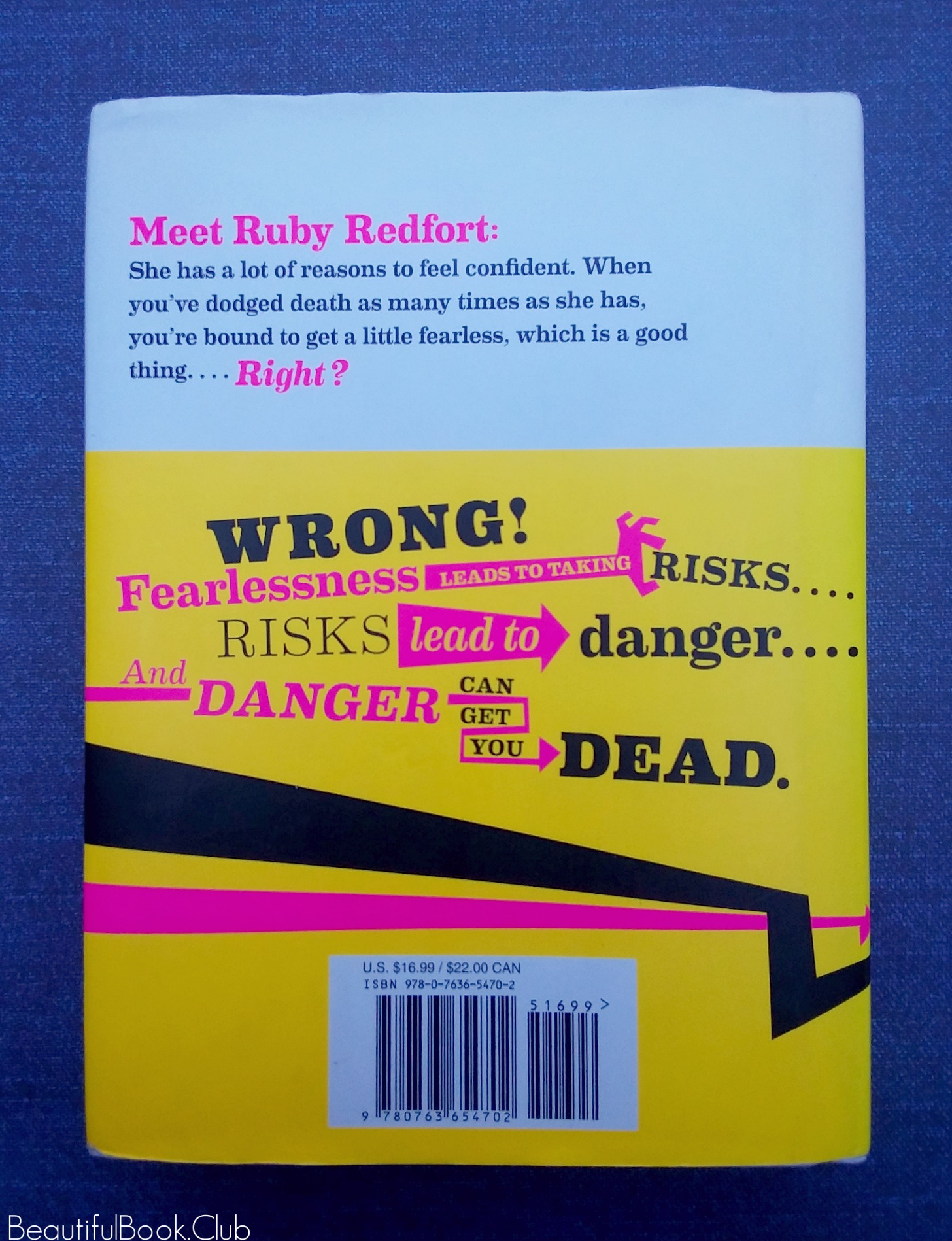 Feel the Fear by Lauren Child Ruby Redfort series book #4 back cover with book jacket