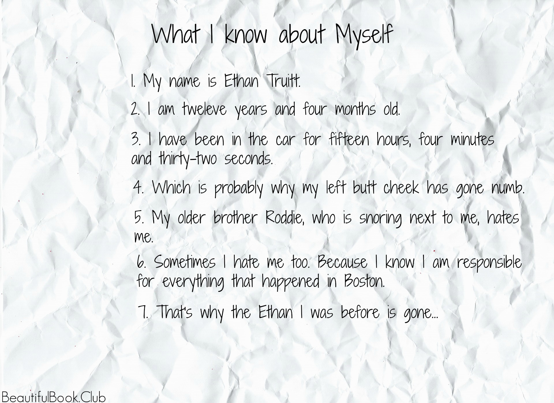 The Ethan I Was Before quote by Ali Standish, What I know about myself