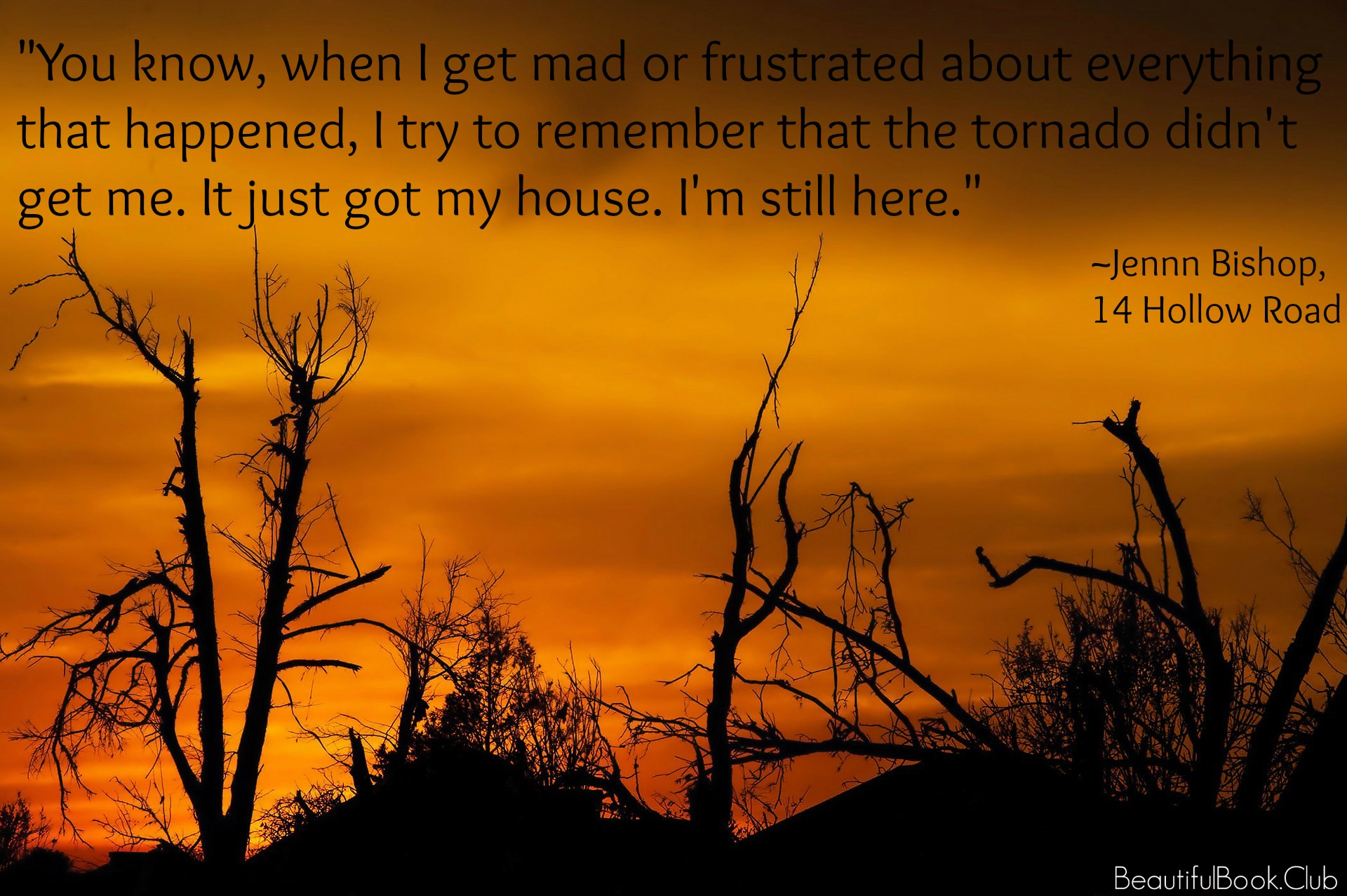 14 Hollow Road quote, I'm still here