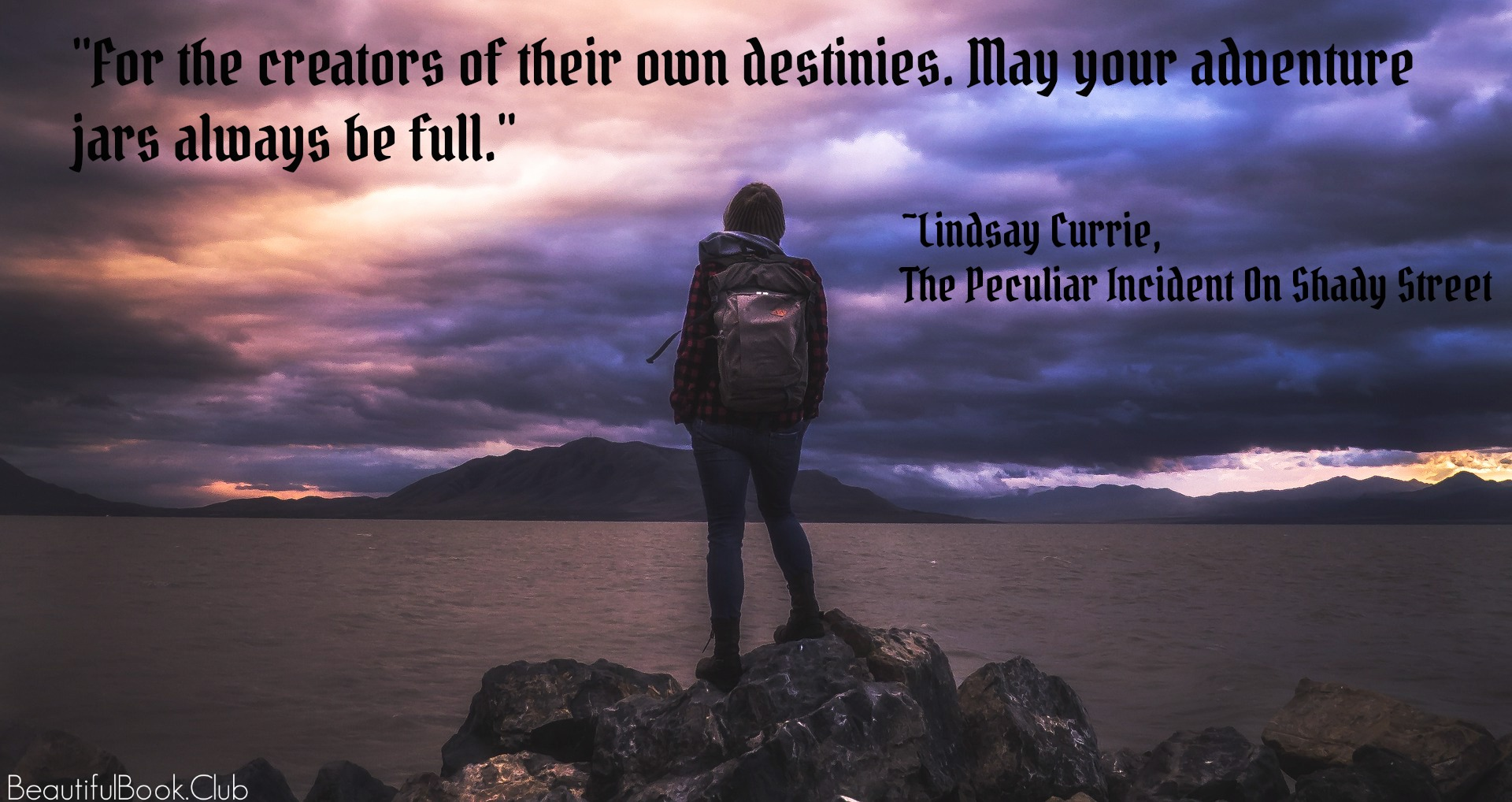 amazing quote by Lindsay Currie, The Peculiar Incident On Shady Street